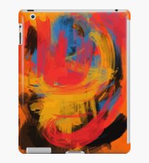 Orange Abstract expressionist Art iPad Case/Skin