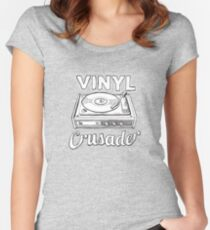 Vinyl Crusader Hipster Women's Fitted Scoop T-Shirt