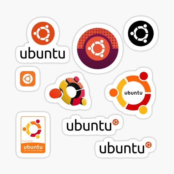 ensemble d'autocollants ubuntu linux Sticker