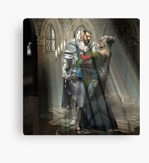Paladin And The Princess   Canvas Print