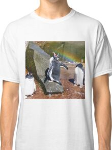 Gentoo Penguin eating Rainbow Classic T-Shirt