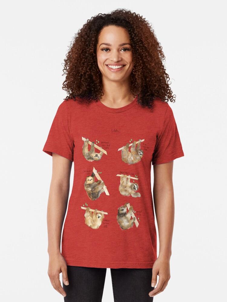 Alternate view of Sloths Tri-blend T-Shirt
