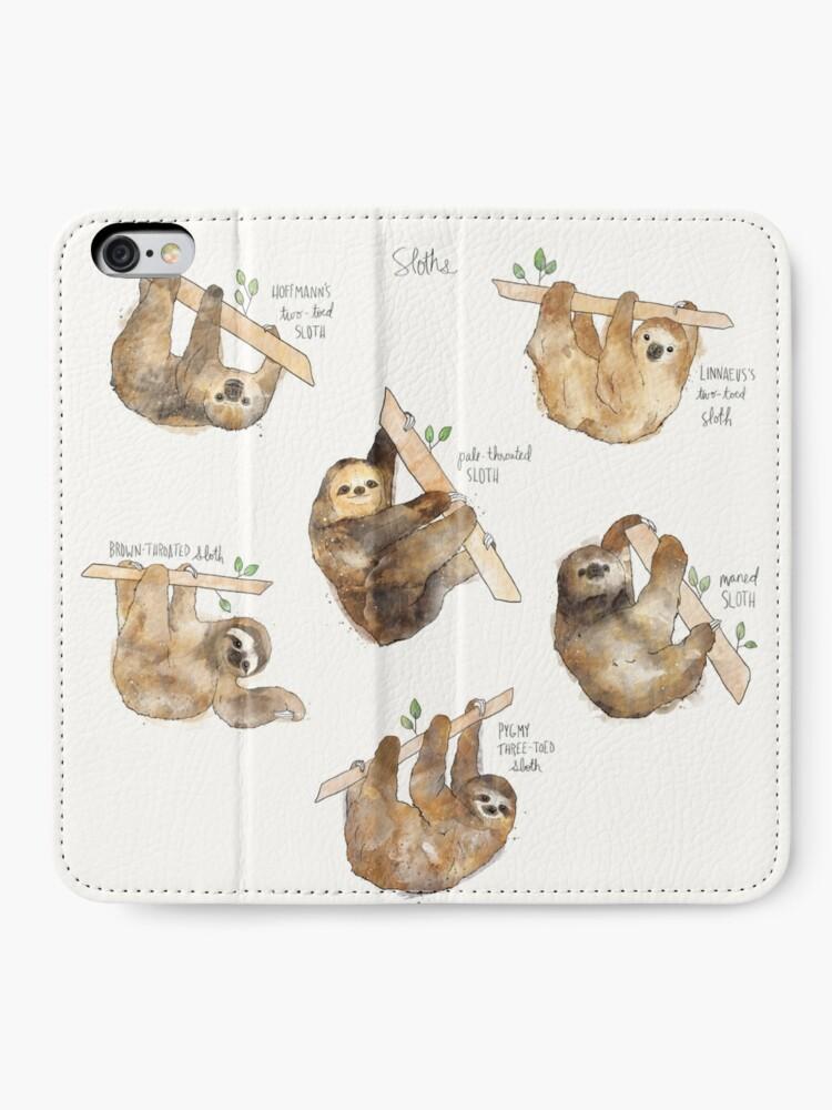 Alternate view of Sloths iPhone Wallet