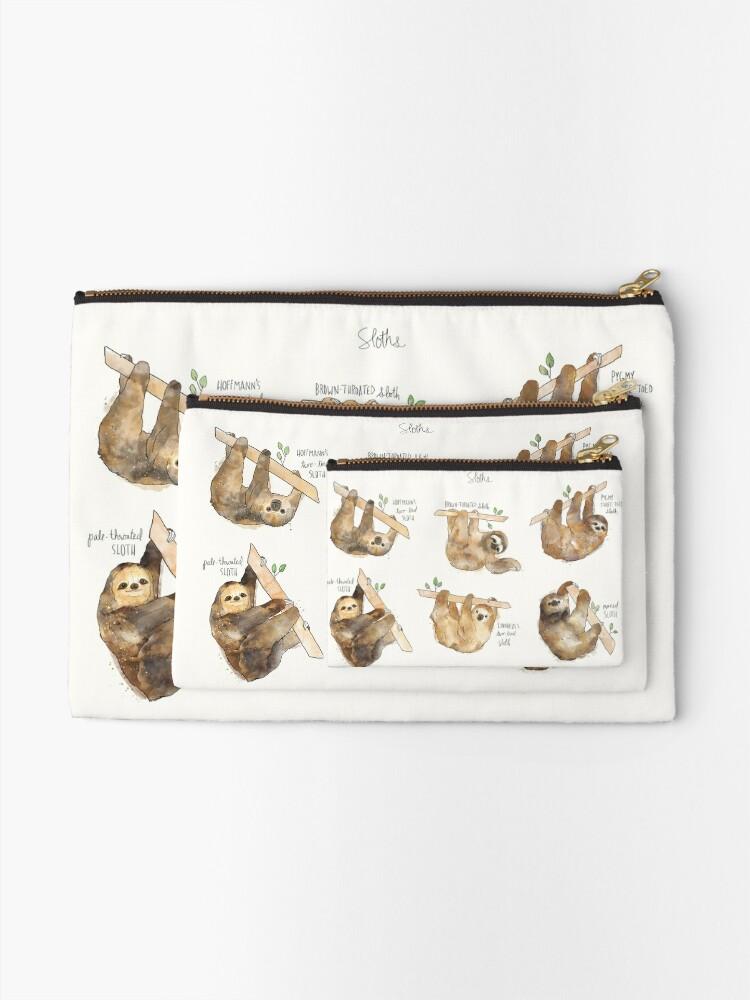 Alternate view of Sloths Zipper Pouch