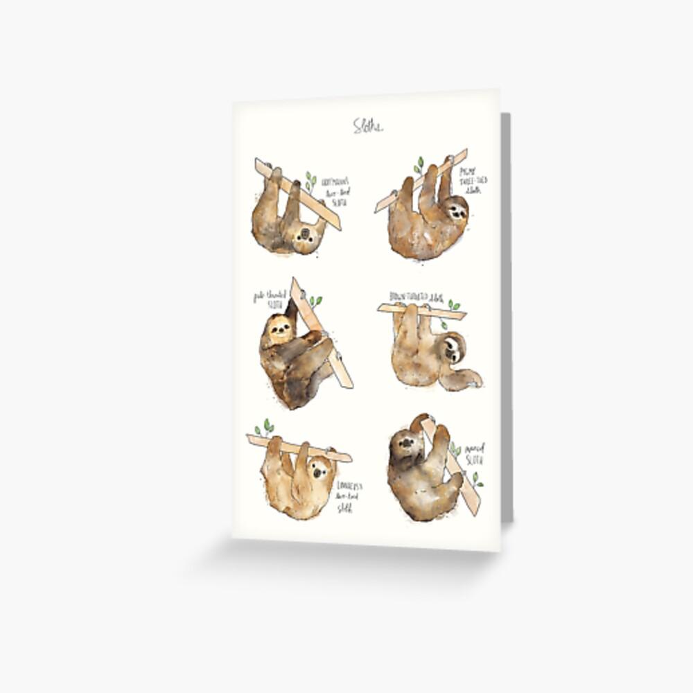 Sloths Greeting Card