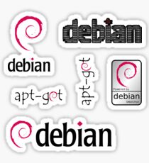 debian operating system linux sticker set Sticker