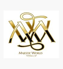 Majestic World Logo GOLD on WHITE by MAMARTIN Photographic Print