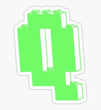 THE LETTER Q  Sticker