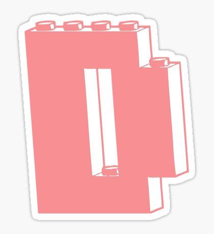 THE LETTER D  Sticker