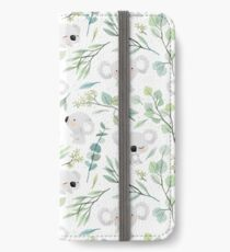 Koala and Eucalyptus Pattern iPhone Wallet/Case/Skin