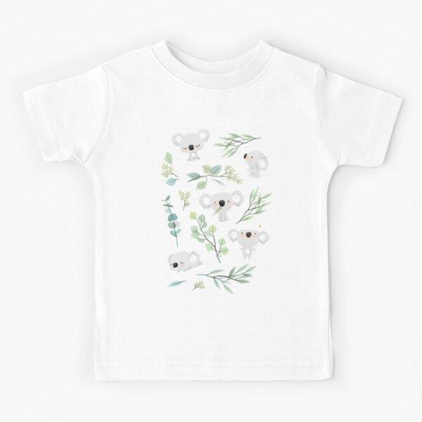 Koala and Eucalyptus Pattern Kids T-Shirt