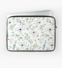Koala and Eucalyptus Pattern Laptop Sleeve