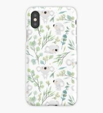 Koala and Eucalyptus Pattern iPhone Case