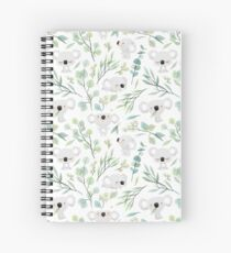 Koala and Eucalyptus Pattern Spiral Notebook