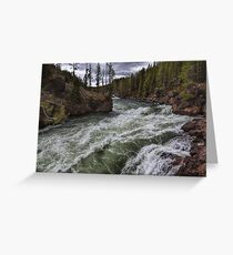 Rushing Mighty River Greeting Card