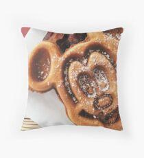 MICKEY shaped waffles  Throw Pillow