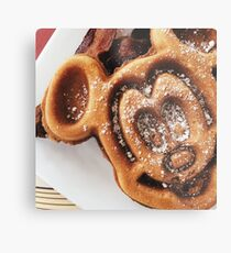 MICKEY shaped waffles  Metal Print