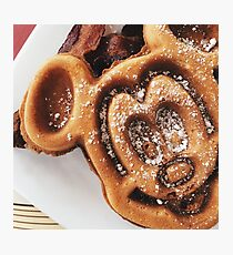 MICKEY shaped waffles  Photographic Print