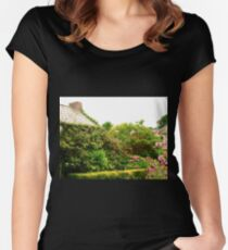 Cottage Garden, Donegal, Ireland Women's Fitted Scoop T-Shirt