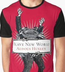 Brave New World - Aldous Huxley Cover Graphic T-Shirt
