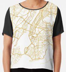 NEW YORK CITY NEW YORK CITY STREET MAP ART Chiffon Top