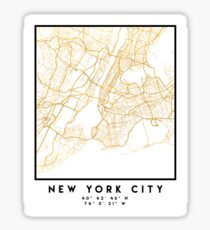 NEW YORK CITY NEW YORK CITY STREET MAP ART Sticker