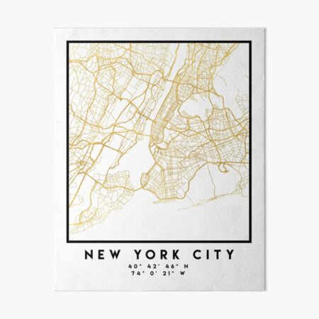 NEW YORK CITY NEW YORK CITY STREET MAP ART Art Board Print