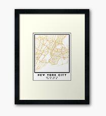 NEW YORK STADT NEW YORK STADT STRASSENKARTE ART Gerahmtes Wandbild