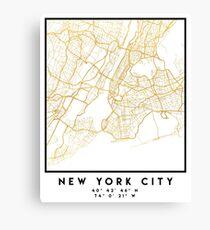 NEW YORK STADT NEW YORK STADT STRASSENKARTE ART Leinwanddruck