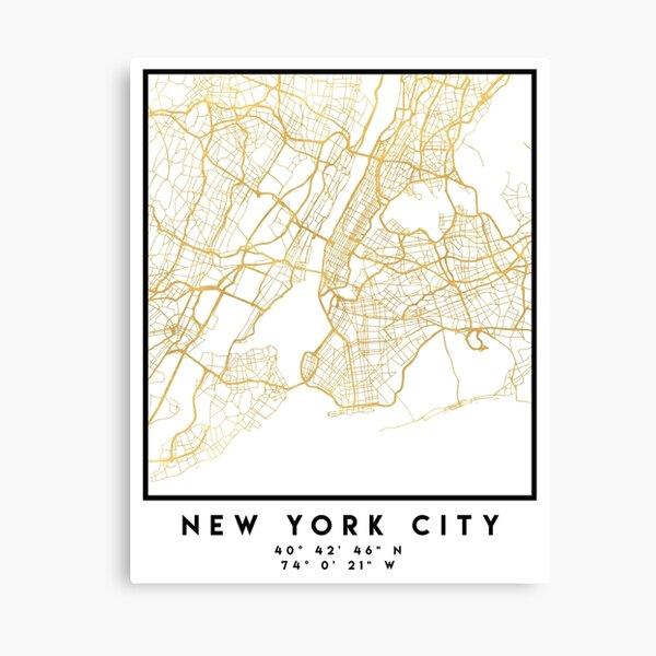 New York in Gold Leinwanddruck