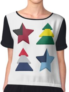 Stars And Trees Chiffon Top