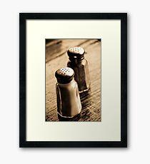 salt, &, pepper Framed Print