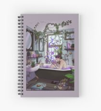 Modern Male Witch Bathroom Spiral Notebook