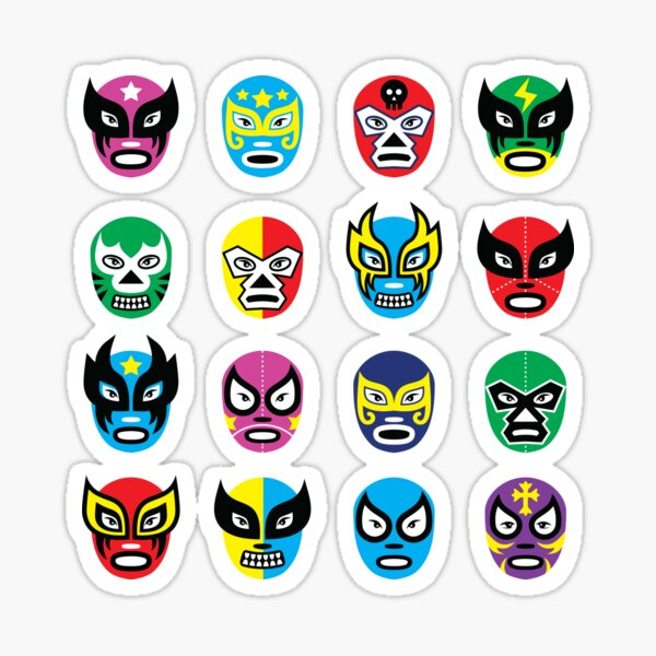 Luchador masks Sticker