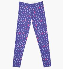 Blue Funny Drops Leggings