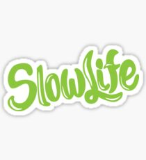 SlowLife - green Sticker
