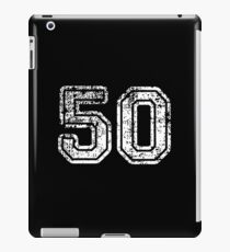 Retro Vintage 50 - 50th Birthday - 1950 - Sports Jersey Numbers Style  iPad Case/Skin