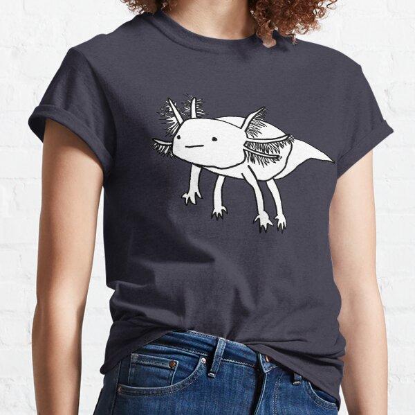 Cute happy floaty axolotl Classic T-Shirt