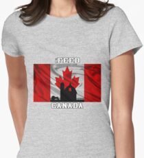 iFEED CANADA Womens Fitted T-Shirt