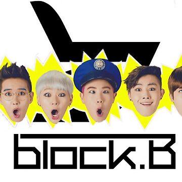 Block B LOGO AND MEMBERS (HER) by IANJJUN
