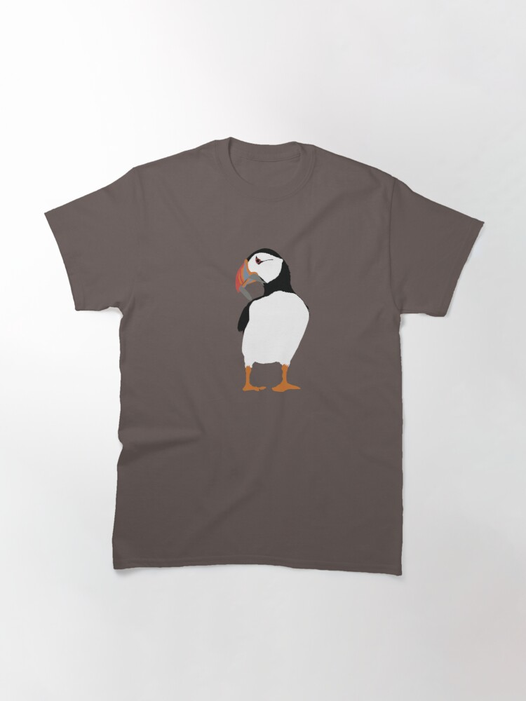 Alternate view of Puffins in green Classic T-Shirt