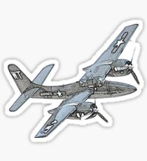 Grumman F7F Tigercat Airplane Sticker
