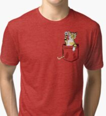 Pocket cat  Tri-blend T-Shirt