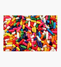 An extreme macro image of cake sprinkles Photographic Print