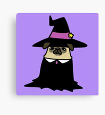 Witch Pug Canvas Print