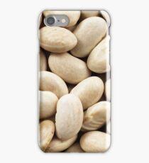 An extreme close up image of dried white beans iPhone Case/Skin