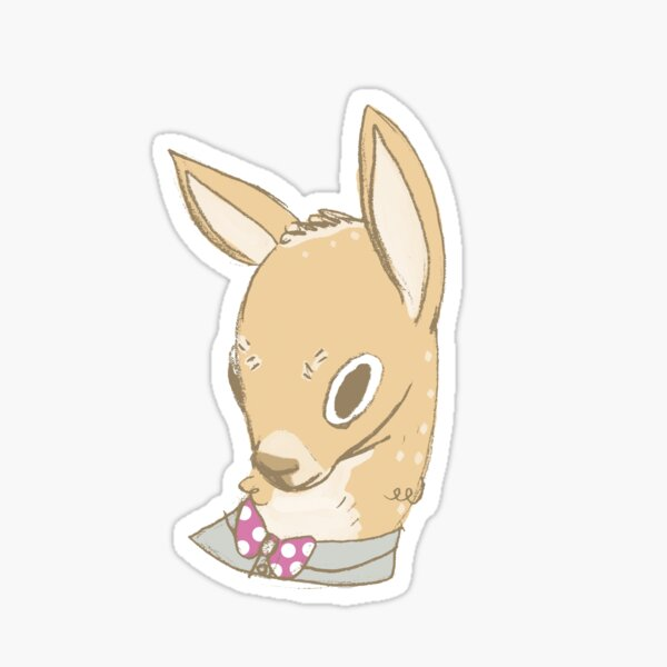 Cute Deer, Adorned with Bowtie Sticker