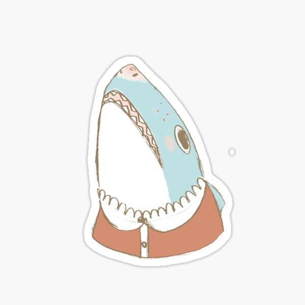Cute Shark, in a Lace Collar Sticker