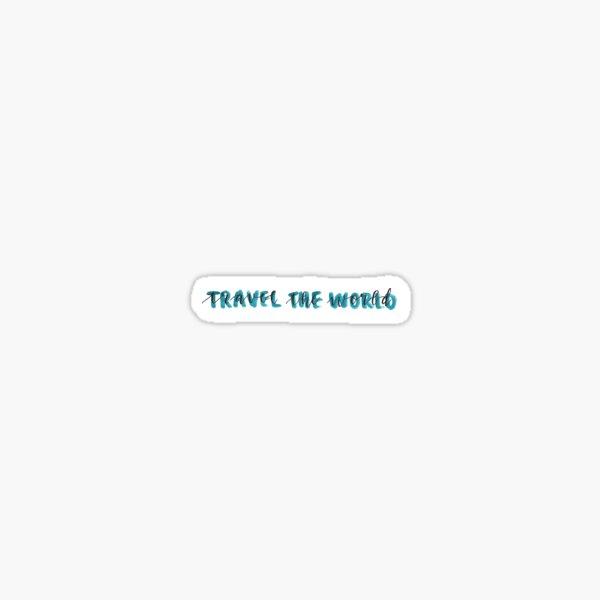 travel the world blue Sticker