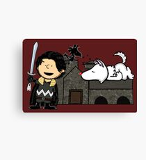 Jon Snow Peanuts Canvas Print
